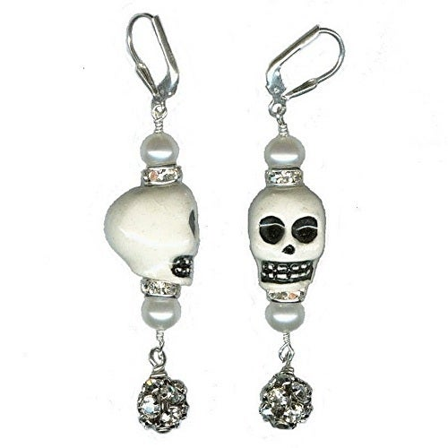 Image of Skull Earrings - As Seen in DEAD SEXY: The Walking Dead Fan Guide