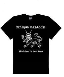 Image of Funeral Marmoori logo t-shirt black