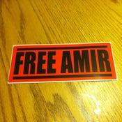 "Image of ""Free Amir"" Bumper Sticker"
