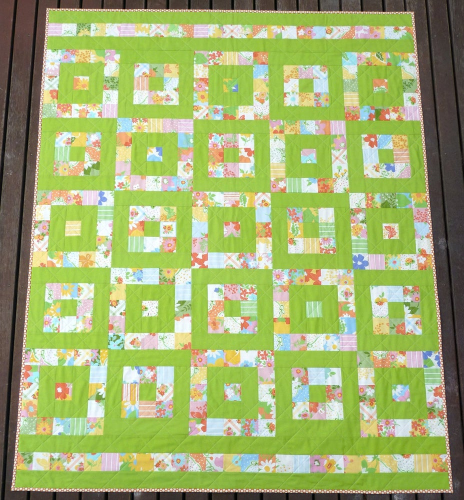 Image of Take 1 ~ A Layer Cake Quilt Pattern (pdf file)