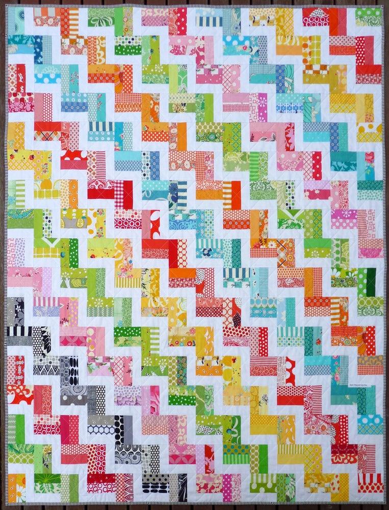 zig zag rail fence quilt pattern pdf file red pepper quilts. Black Bedroom Furniture Sets. Home Design Ideas