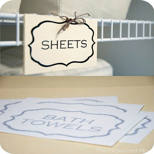 Image of Linen Closet Labels