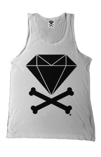 Image of Diamond & Crossbones Tank Top (White)