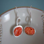 Image of flower coral earrings
