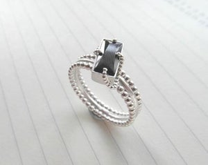 Image of Pearl Collection - Onyx Ring