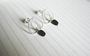Image of Pearl Collection - Stud Onyx Earrings
