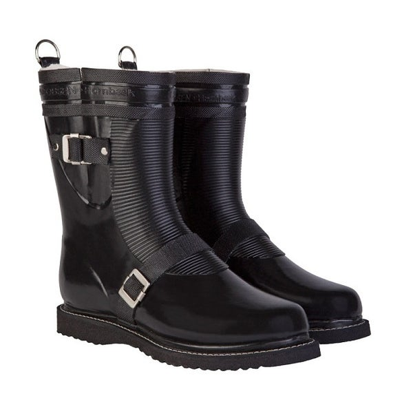 Image of Ilse Jacobsen Biker Boots, Mid Calf - Black