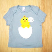 Image of Howdy Chick Baby Blue Infant tee