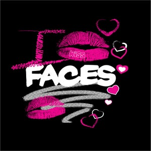 "Image of ""I KISS FACES"" Blk/Pink T-shirt!!!"