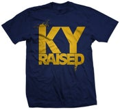 Image of Ky Raised in Navy and Gold