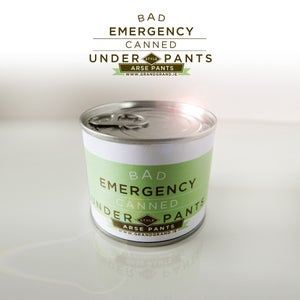 Image of BAD EMERGENCY CANNED UNDERPANTS. ARSE PANTS. GREEN