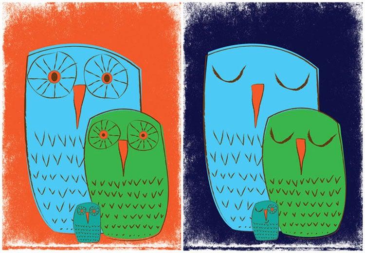 Image of We 3 Owls 2 Nursery At Print Set