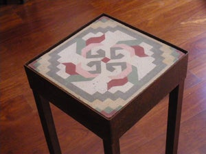 Image of Pink, Red and Grey Spinner plant stand
