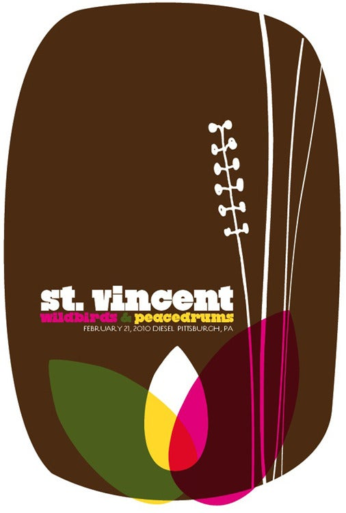 Image of St. Vincent w/ Wildbirds & Peacedrums Show Poster