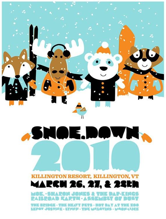 Image of moe. Snoe Down Festival 2010 Silkscreen Poster