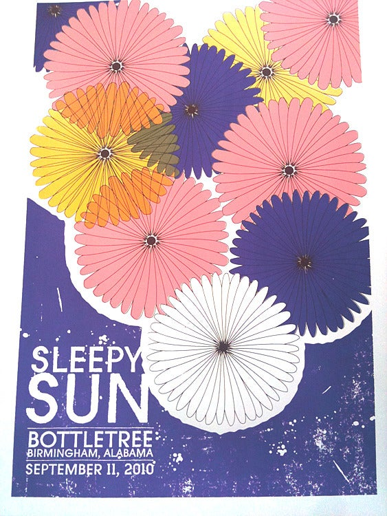 Image of Sleepy Sun Silkscreen Rock Gig Poster