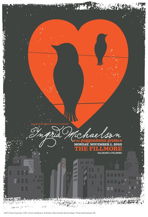 Image of Ingrid Michaelson Fillmore Show Poster