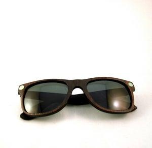 Image of Ebony and Turquoise Wayfarer Sunglasses