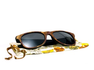 Image of Plum Patchwork Wayfarer Sunglasses