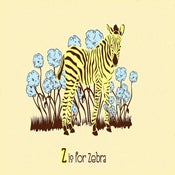 Image of Z is for Zebra Alphabet Nursery Print