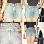 Image of Genuine vintage wrangler high waisted shorts,distressed and studded