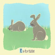 Image of R is for Rabbit Alphabet Nursery Print