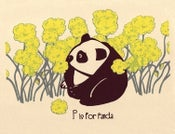 Image of P is for Panda Alphabet Nursery Print