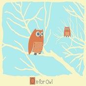 Image of O is for Owl Alphabet Print