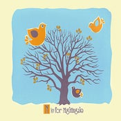 Image of N is for Nightingale Alphabet Nursery Print