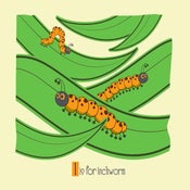 Image of I is for Inchwom Alphabet Nursery Print