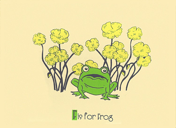 Image of F is for Frog Alphabet Nursery Print