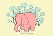 Image of E is for Elephant Alphabet Nursery Print