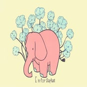 Image of E is for Elephant Alphabet Print