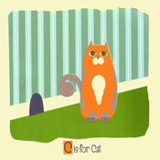 Image of C is for Cat Alphabet Nursery Print