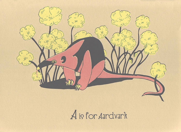 Image of A is for Aardvark Alphabet Nursery Print