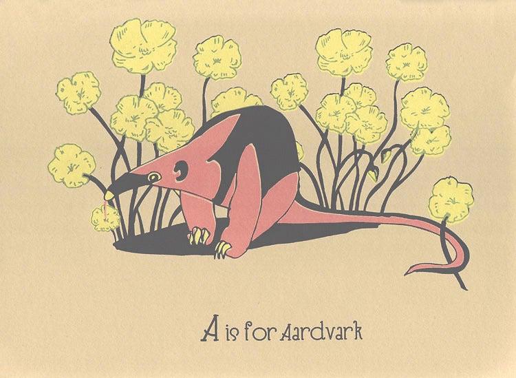 Image of A is for Aardvark Alphabet Nursery Print