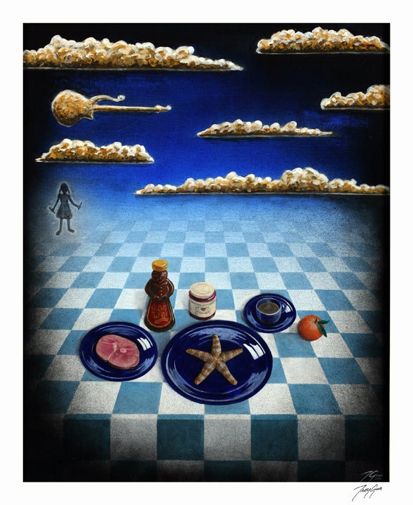 "Image of ""Starfish and Coffee"" limited edition giclee print"
