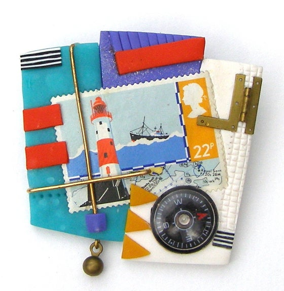 Image of British Lighthouse Brooch