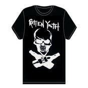 Image of ROTTEN YOUTH 'SKULL & CROSSBREWS' SHIRT