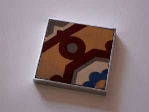 Image of Antique dot and flower coaster