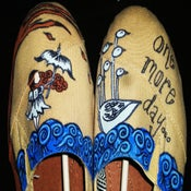 Image of Hand Painted Illuminate Album Artwork Canvas Shoes (GIRLS)