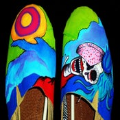 Image of Hand Painted Assailants Album Art Canvas Shoes (GIRLS)