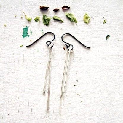 Image of silver stem earrings