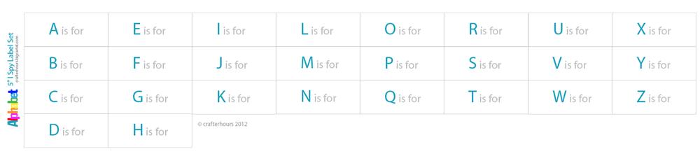 "Image of 5"" I Spy Labels: Alphabet Set"