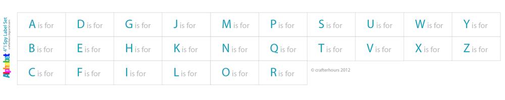 "Image of 4"" I Spy Labels: Alphabet Set"