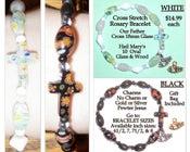 Image of Cross Stretch Oval Rosary Bracelets