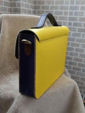 Image of Handmade Genuine Leather Satchel / Messenger Bag / Backpack - Multicolor (s2)
