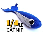 Image of Foot Long Whale Organic Catnip CAT TOY Handmade by Oh Boy Cat Toy