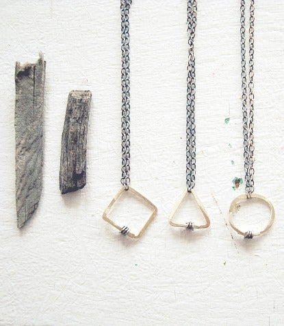 Image of geometrics necklaces