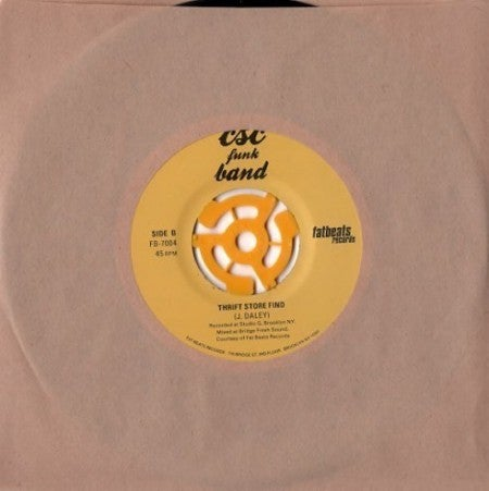 "Image of Mr. Holmes & the Brotherhood/CSC Funk Band ""Thrift Store Find"" (Fat Beats/Light In The Attic) 7"""